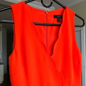 J. Crew Dresses - NWOT J.Crew Scalloped Suiting Dress